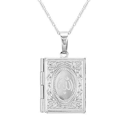 Chandler Koran im Nahen Osten Muslim Koran Allah Koran Box für Fotos Halskette Schmuck für Damen Herren Mädchen Geschenke