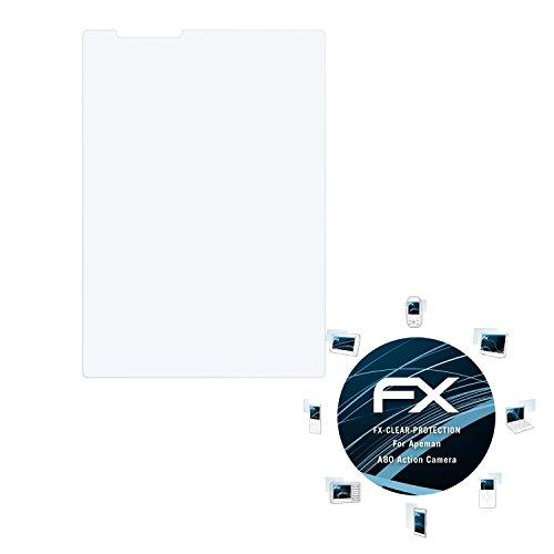 atFoliX Schutzfolie kompatibel mit Apeman A80 Action Camera Folie, ultraklare FX Displayschutzfolie (3X)