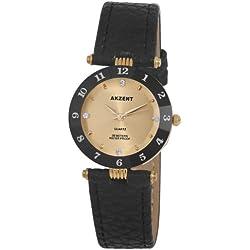 Akzent Damen-Uhren mit Polyurethan Lederband SS7304100014