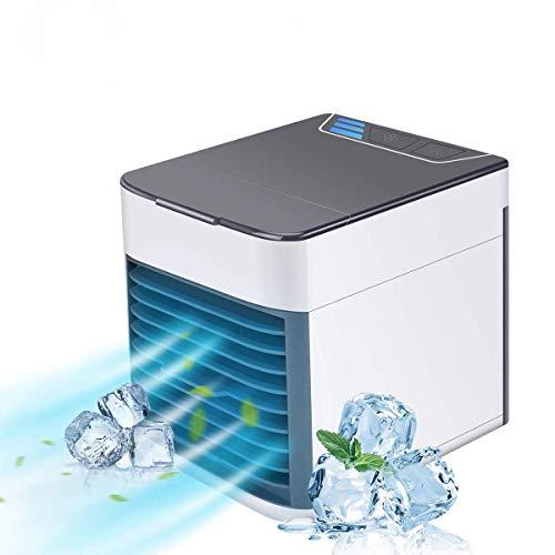 IDABAY Mobile Klimaanlage/Ventilator Klimageräte / 3-in-1-Luftkühler/Lüfter • Befeuchtungsfunktion • Luftreiniger mit 3 Geschwindigkeitsstufen 7 Farben LED Nachtlicht Für Home Office Mitbringen