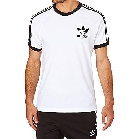 Adidas Clfn Tee Camiseta, Clfn Tee, White/Black, XL