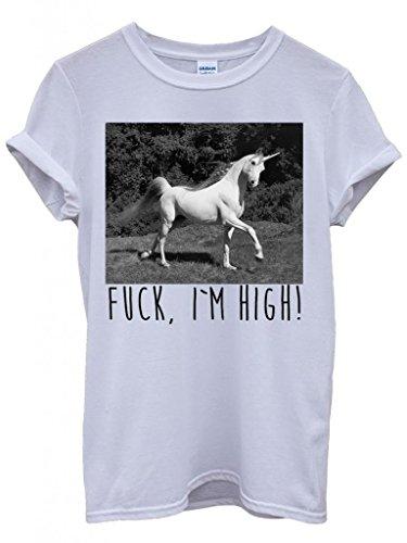 unicorn-fck-i-am-high-hipster-swag-white-weiss-damen-herren-men-women-unisex-top-t-shirt-xx-large