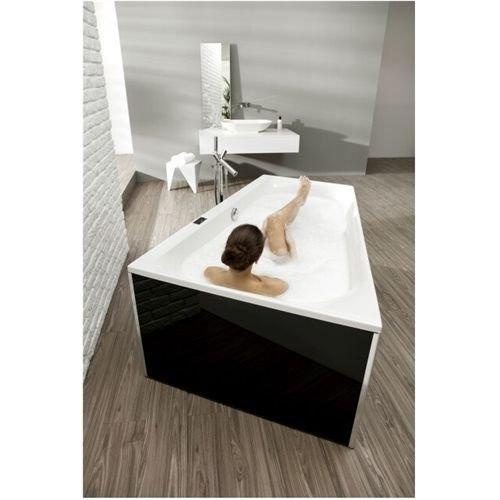 Hoesch THASOS Trapez-Badewanne 1750 x 1100 mm, links weiß