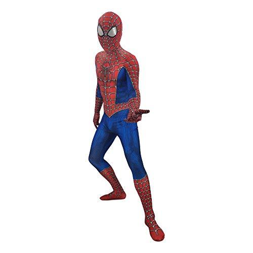 DFRTYE Erwachsene Spider-Man Verkleidung Kostüm Halloween Spandex Overall 3D Print Spiderman Superheld Cosplay (Film Characters Halloween Kostüme)