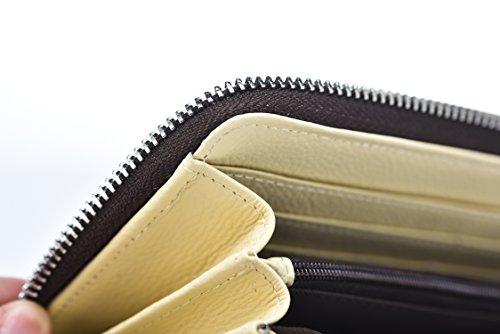 YoMeiJun Donna Portafoglio Di Pelle Lungo Borsa Porta Moneta Borsetta Di Stampa Multicolore Uccelli02 Gatto07