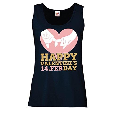 Damen Tank-Top Herzlichen Glückwunsch Zum Valentinstag! 14. Februar Awesome Valentines Love Gift (X-Large Blau - Wirkliche Datum Von Das Halloween