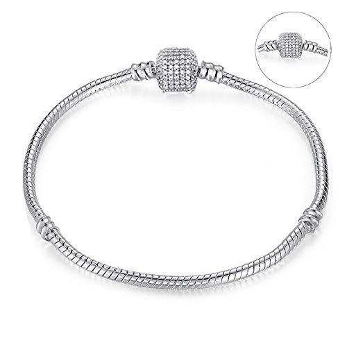 Authentic Silber Farbe Schlangenkette Feine Armband Fit Europäischen Charme Armband Für Frauen Schmuckherstellung ()