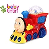 Babytintin Bump and Go Musical Engine Train with 4D Light and Sound Toy for Kids