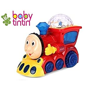 TEMSON Bump and Go Musical Engine Truck Train with 4D Light and Sound Toy for Kids