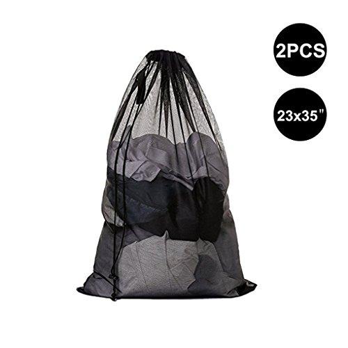dogeek bolsas de malla de lavandería bolsas de lavad para ropa interior, calcetines,sujetadores , camiseta,ropa de bebé (negro, 2 pcs)
