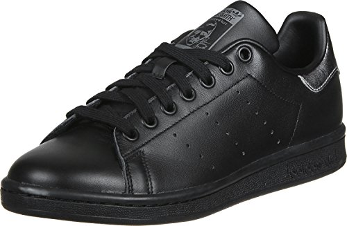 adidas Stan Smith W, Chaussures de Tennis Femme Noir (Cblack/cblack/supcol)