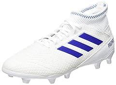 Idea Regalo - adidas Predator 19.3 Fg, Scarpe da Calcio Uomo, Multicolore (Ftwbla/Azufue/Azufue 000), 43 1/3 EU