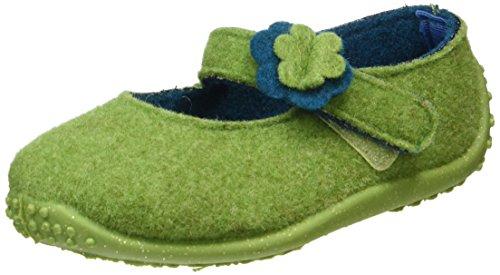 Fischer Mädchen Klett-Hausschuh Flache Grün (grün 444)