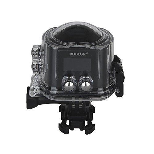 BOBLOV Caméra d'action 360°Panoramique Caméra Vidéo à 360 Degrés Étanche Wifi 4K 2448*2448 30fps 16MP HD avec Objectif Fish-eye 220°(X6S)