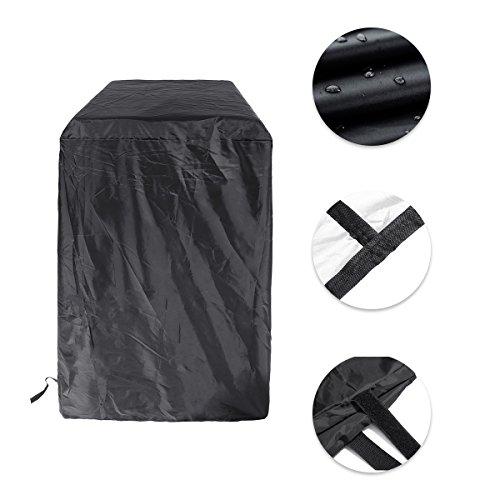 Essort copertura barbecue impermeabile, telo copertura barbecue, telo di copertura per barbecue, impermeabili telo protettivo per bbq, campana di coperchio barbecue, 66x48x100cm, rotondo nero