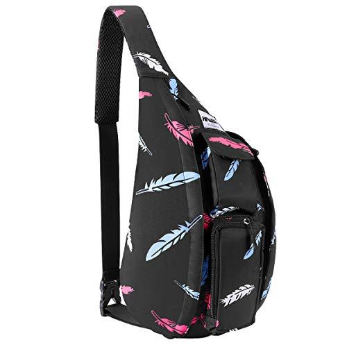 HAWEE Reise Brusttasche Sling Umhangetasche Rucksack Crossbody Schultertasche Daypack Casual für Männer Frauen Teenager Arbeit Reise Stud...