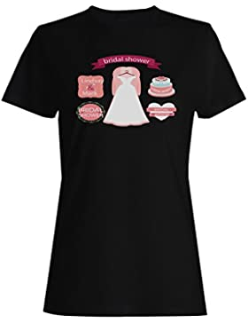 Nupcial, ducha, boda, planificación, novedad camiseta de las mujeres b181f