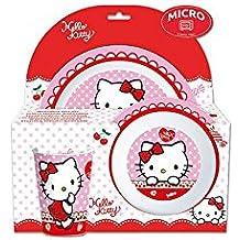 Hello Kitty kids 3 piece microwave plastic set