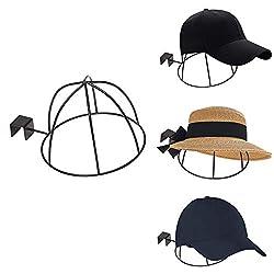 SADA72 Caps Display Rack, Metall Wandhalterung Platzsparend Display Rack Caps Halter Hutständer Mit Stärkerer Tragfähigkeit Für Zuhause oder Geschäft