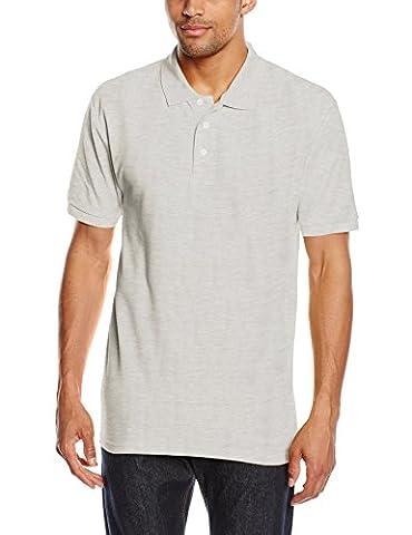 Fruit Of The Loom Herren T-Shirt Pique Polo 65/35, Grau
