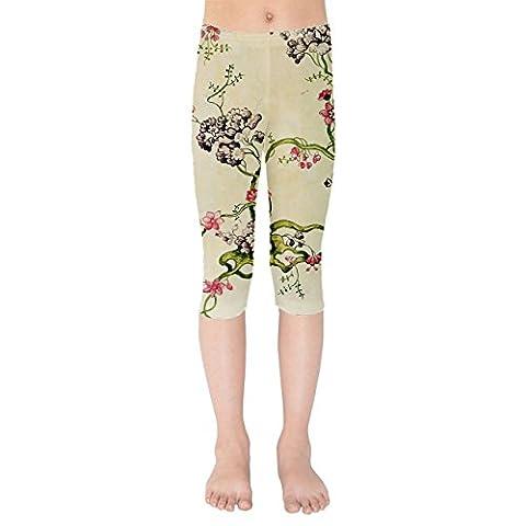 Vintage Florals Kids Capri Leggings -