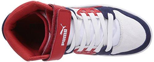 Puma Rebound Street CV Unisex-Erwachsene Sneakers Blau (peacoat-peacoat-high risk red 02)
