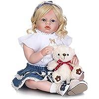 f9224b3e31d kingko® 70CM Poupée Bébé Reborn en Silicone Bébé Poupée Yeux Ouverts avec  des Vêtements Cheveux