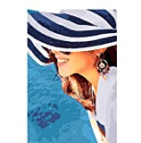 xpminhj Blue Hat Girl Picture Lady Numérique Peinture à l'huile décoration pour la Maison Wall...