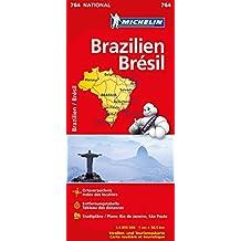 Michelin Brasilien: Straßen- und Tourismuskarte 1:3.850.000 (MICHELIN Nationalkarten)
