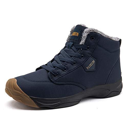 populalar Damen Herren Schuhe Kurze Schneestiefel Winterschuhe Warm Gefüttert Freizeit Schuhe Schnür Boots Outdoor Schwarz Blau Braunes Pulver 36-46EU