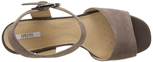 Geox D Marilyse B, Sandales Bout Ouvert Femme Beige (TAUPEC6029)