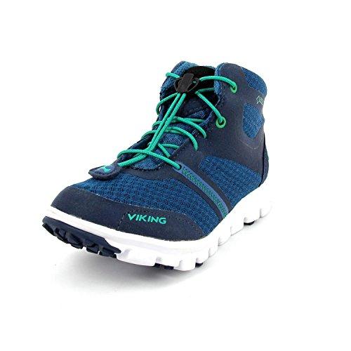 Viking MAVERICK MID GTX Unisex Kinder Hohe Sneakers Petrol