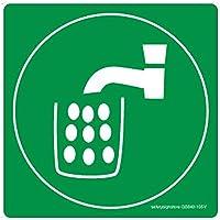Safety Sign Store acqua potabile in materiale autoadesivo, 3 m in policarbonato, 0,25 Mm, confezione da 1 210 x 210