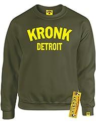 Kronk guantes de boxeo de Detroit–Sudadera para hombre Klitschko Hearns