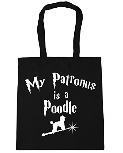 hippowarehouse-my-patronus-is-a-poodle-tote-shopping-gym-beach-bag-42cm-x38cm-10-litres