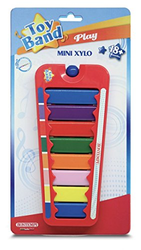 Bontempi 55 0832 Xylophon mit 8 farbigen Metallplättchen/Noten (C-C). Maße: 240x105x20 mm