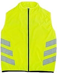 Gilet de sécurité réfléchissants haute visibilité pour les coureurs vélo (Vert fluo)