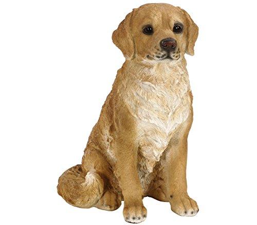Dehner Dekofigur Labrador sitzend, ca. 39 x 29 x 24 cm, Polyresin, hellbraun