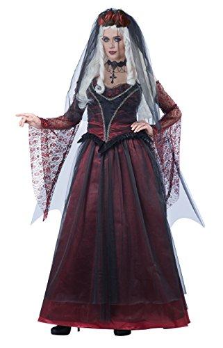 (Gothic Vampir Braut Kostüm für Damen M (40/42))