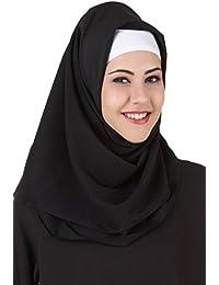 MyBatua Noir Kashibo Hijab Islamique, Pratique Hijab Musulmane, Carré et  Rectangulaire, Foulard Fantaisie, Foulards Mode HJ\u2026
