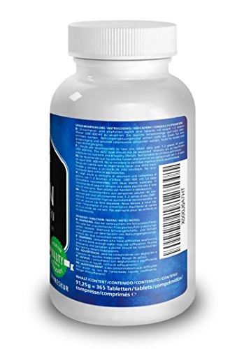 Vitamaze Biotin Verpackung mit Zink und selen Hochdosiert 365 Tabletten Jahresration