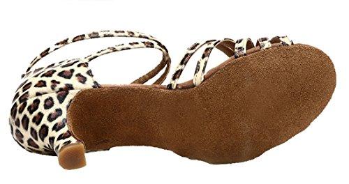 TDA - Ballroom donna 7.5cm Leopard