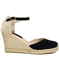 Zapatos miMaO. Zapatos Piel Mujer Hechos EN ESPAÑA. Cuñas Esparto Mujer. Sandalias Plataforma
