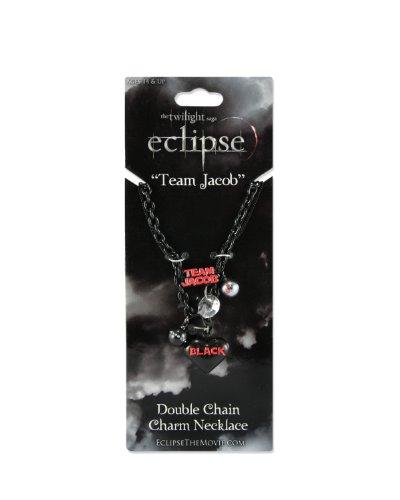 "Twilight Eclipse Necklace double chain charm necklace ""Team Jacob"""