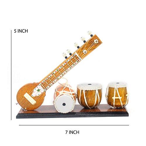 Handgefertigt Tisch Top indischen Miniatur Musikinstrument dekorativ Visitenkarte Geschenk Multi gelegentlichen Premium Geschenk - Handgefertigte Tische