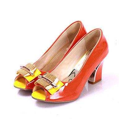 LvYuan Sandali-Matrimonio Formale Casual Serata e festa-Innovativo Club Shoes-Quadrato-Vernice Materiali personalizzati-Nero Verde Arancione Black