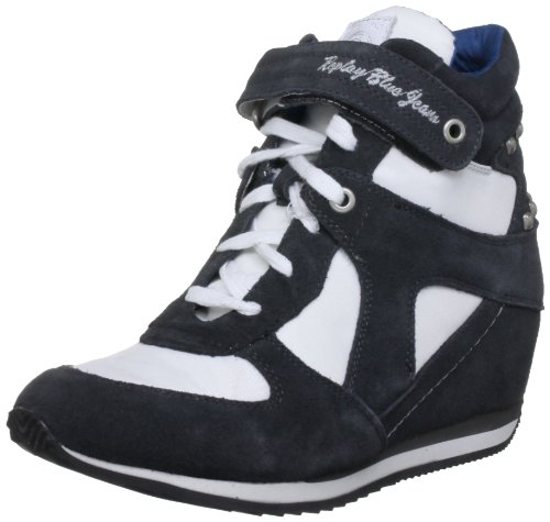 Replay  Denize, basket femme Bleu - Blau (Navy/White)