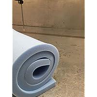 """Blue Upholstery Foam Sheet High Density 60"""" (L) x 20"""" (W) x 1/2"""" (D) / 1.52m (L) x 0.50m (W) / 152cm(L) x 50cm (W)"""