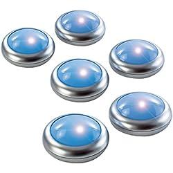 ANSMANN Aqualight Unterwasser LED Stimmungslicht mit tollem Farbwechsel für innen & außen - Ideal für Teich Badewanne Dusche Unterwasserlicht Gartenlicht Pool Deko Beleuchtung Zubehör - 6er Set