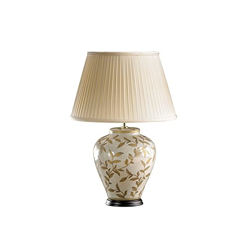 Luis Collection Brown/Gold Leaves Table Lamp